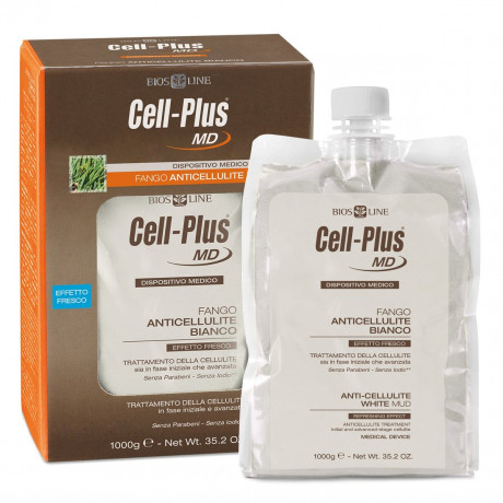 Cell-Plus MD Fango Anticellulite Bianco 1 Kg Bios Line