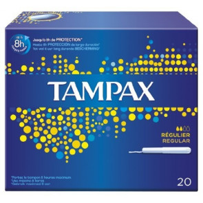 Tampax Blue Box Regular Assorbenti Interni 20 Pezzi