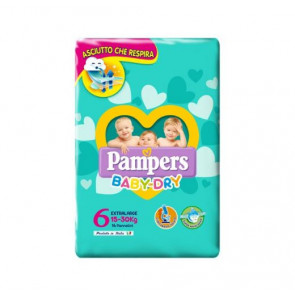 Pannolini Baby Dry Taglia 6 Extralarge 14 Pezzi Pampers