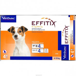 Effitix Cani 4-10 kg 4 Pipette 67 mg / 600 mg