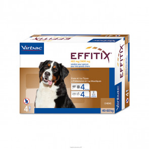 Effitix Cani 40-60 kg 4 Pipette 402 mg / 3600 mg