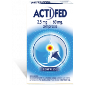 Actifed 2,5 Mg + 60 Mg Compresse