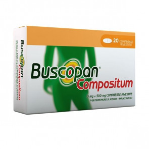 Buscopan Compositum 10 mg + 500 mg 20 Compresse Rivestite