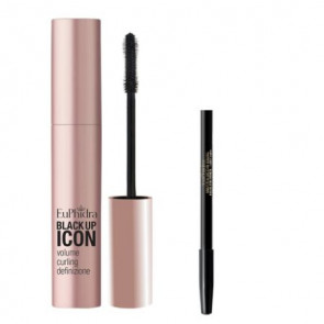 Mascara Black Up Icon 12 ml + Mini Matita Occhi Kajal LO01 Nero Euphidra