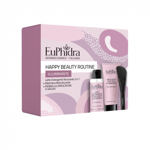Euphidra Happy Beauty Routine Illuminante - Maschera Illuminante 75 ml + Latte Detergente 100 ml
